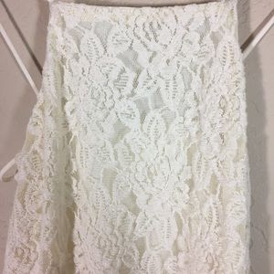 Pins and Needles dress cream lace cutout sz S